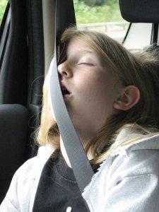 How can she sleep like that