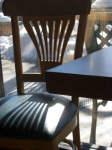 Sun on the Coffee Shop Chair